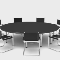 Conference Table with clipping path