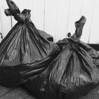 143 Black bin bags