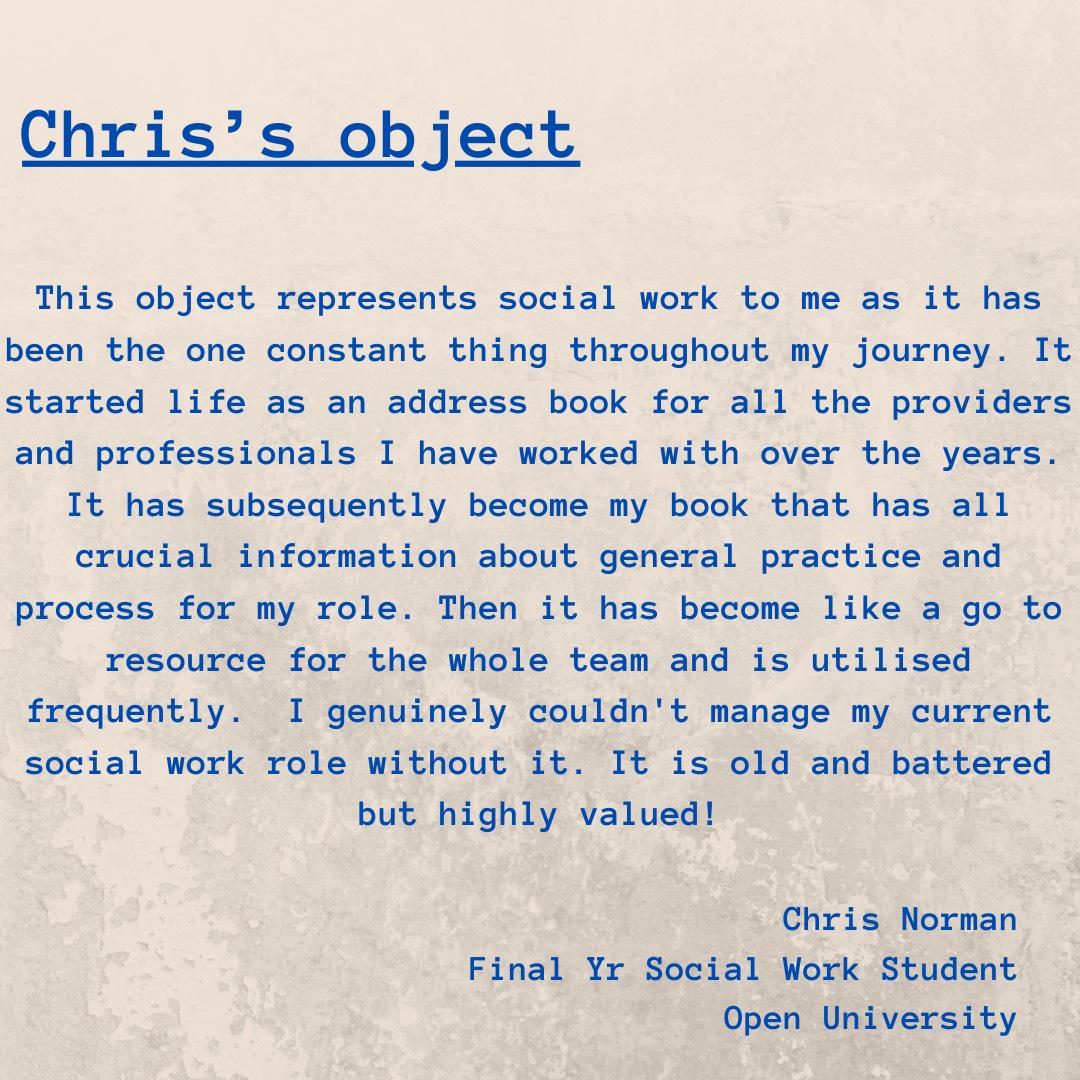 socialworkin40objects – social work in 40 objects